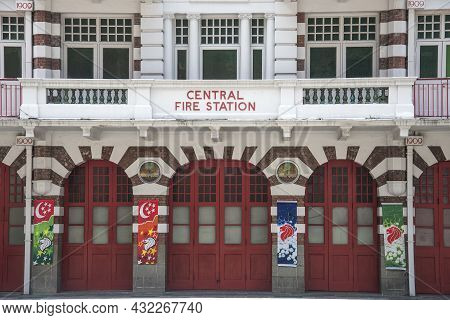 Singapore- 6, Sep 2021: The Central Fire Station In Singapore. It Is The Oldest Existing Fire Statio