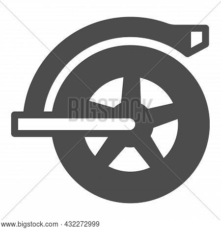 Rear Wheel Of Electric Scooter Solid Icon, Electric Transport Concept, Mudguard Wheel Vector Sign On
