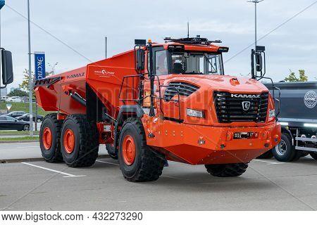 Hybrid Mining Dump Truck Kamaz-6561 Hercules. Self-driving Truck For Havy-duty Work. International C