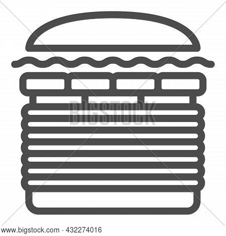 Burger Windows 7 Line Icon, Fast Food Concept, Windows Seven Whooper Vector Sign On White Background