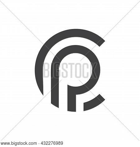 Letter P And C Logo Icon Flat Vector Concept Graphic Simple Stylish Design