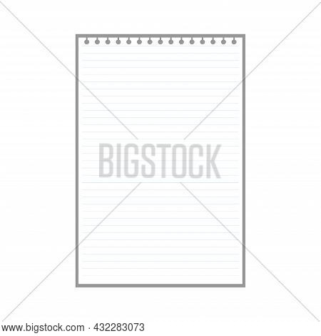 Blank Lined Page Sheet For Notes With Ring Holes.