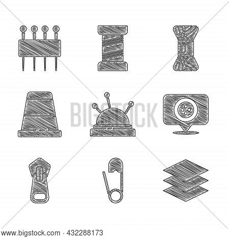 Set Needle Bed And Needles, Safety Pin, Layers Clothing Textile, Location Tailor Shop, Zipper, Thimb