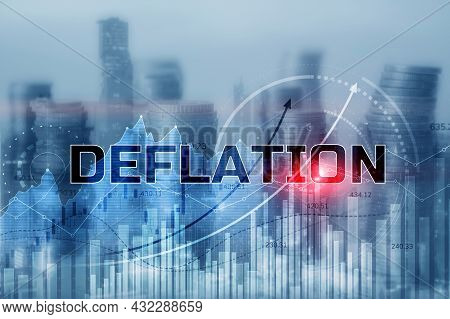 Deflation Concept. General Decline In Prices For Goods And Services 3d