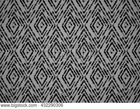 Abstract Geometric Pattern. A Seamless Vector Background. Black And Gray Ornament. Graphic Modern Pa