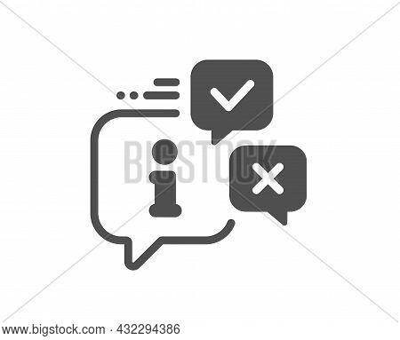 Information Icon. Info Speech Bubble Sign. Help Inform Symbol. Classic Flat Style. Quality Design El