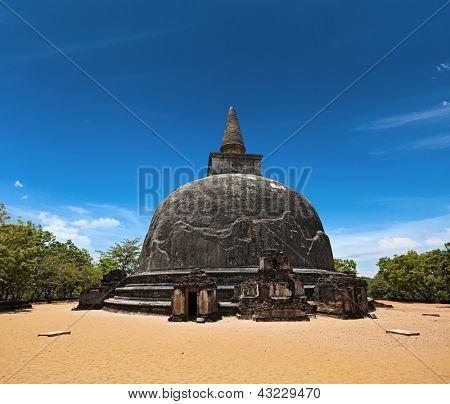 Kiri Vihara - ancient dagoba. Pollonaruwa, Sri Lanka poster