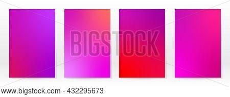 Minimal Poster. Pastel Soft. Pink Gradient Set.