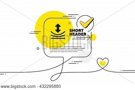 Resilience Icon. Continuous Line Check Mark Chat Bubble. Elastic Material Sign. Resilience Icon In C