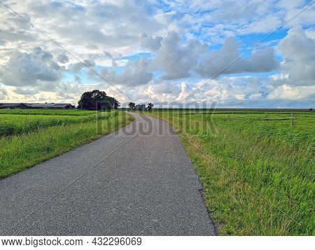 Landscape in the countryside from the province Friesland in the Netherlands