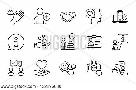People Icons Set. Included Icon As Augmented Reality, Apartment Insurance, Dont Touch Signs. People