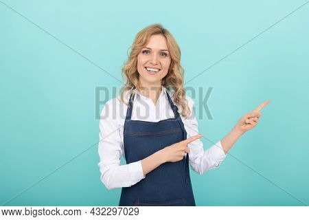 Housewife Express Happiness. Positive Emotions. Portrait Of Enjoyment. Happy Female Barista.