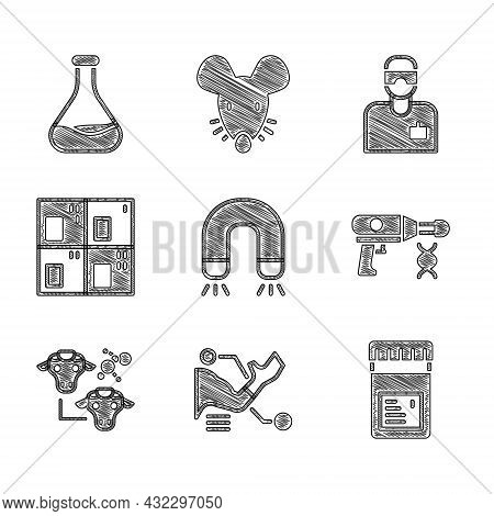 Set Magnet, Prosthesis Hand, Jar With Additives, Transfer Liquid Gun, Cloning, Periodic Table, Labor