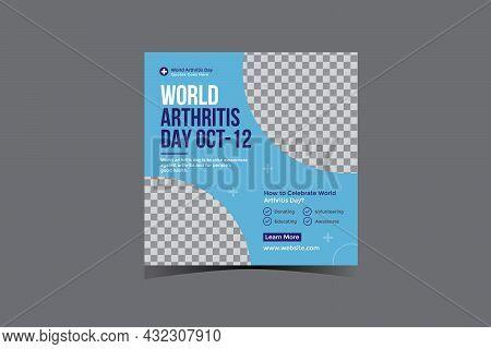 World Arthritis Day Social Media Post Banner Design