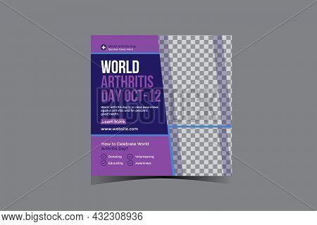 World Arthritis Day Social Media Post Design