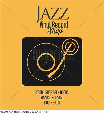Gramophone Vinyl Lp Record Illustration Background 003.eps