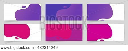Liquid Shapes Coupon Backgrounds Set With Beauty Abstract Liquid Simple Modern Fluid Pattern Vector