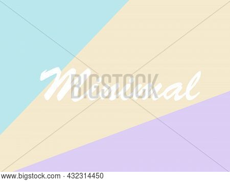 Three Pastel Backgrounds Arranged In Turquoise, Yellow And Purple Respectively Can Be Used As Greeti