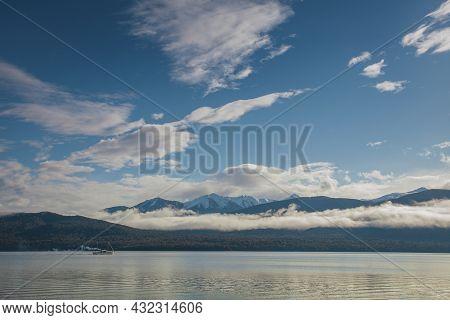Beautiful Scenic Of Lake Te Anau Southland New Zealand