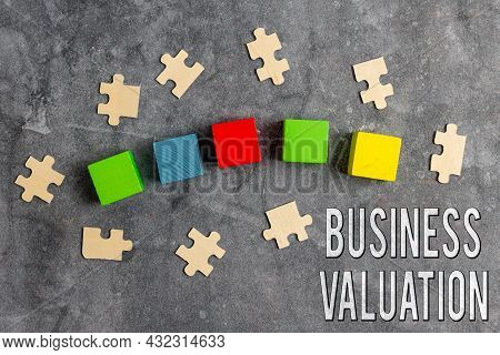 Conceptual Display Business Valuation. Business Overview Determining The Economic Value Of A Whole B