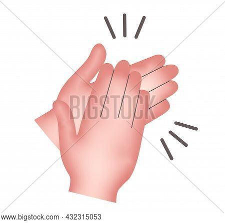 Clapping Hands, Isolated On A White Background, Applause