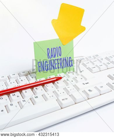 Text Caption Presenting Radio Engineering. Conceptual Photo Concerned With The Operation And Repair