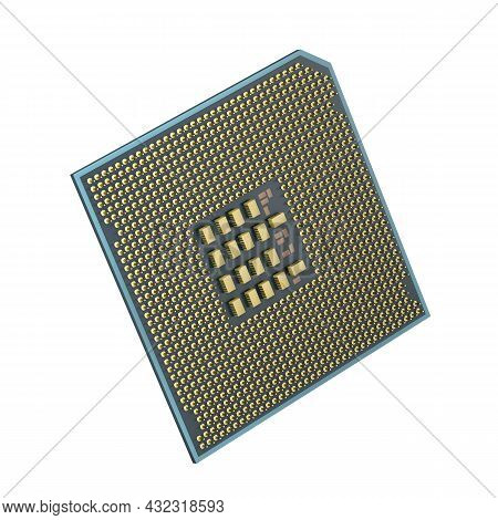 Central Processing Unit (cpu) On White Background. 3d Illustration