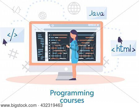 Programming Courses Online Education, Coding Learning. Information Technology Teaching, It Lessons F