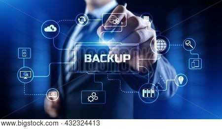 Backup Disaster Recovery Data Protection Technology Concept.