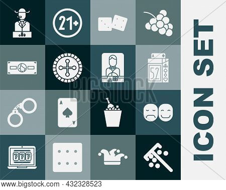 Set Stick For Chips, Poker Player, Deck Of Playing Cards, Game Dice, Casino Roulette Wheel, Stacks P
