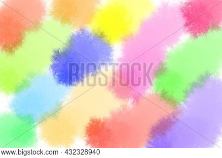 Soft Smeared Light Colorful Color Hand Painted Watercolor Abstract Background With Copy Space For Te