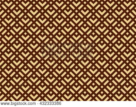 Abstract Geometric Pattern. A Seamless Vector Background. Gold And Brown Ornament. Graphic Modern Pa