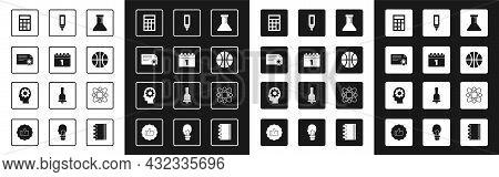 Set Test Tube And Flask, Calendar First September Date, Certificate Template, Calculator, Basketball