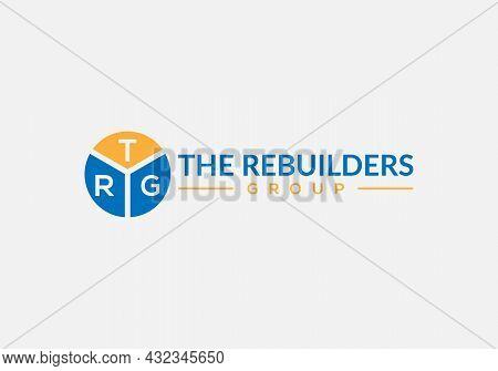 Abstract Trg Letter Initial Real Estate Logo Design