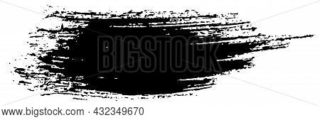Brush Stroke, Grunge Black Ink Lines, Vector Abstract With Paint Brush Grunge Texture. Paintbrush St