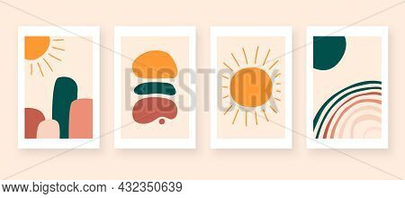 Modern Abstract Art Wall Decoration. Colorful Abstract Background Illustration Vector