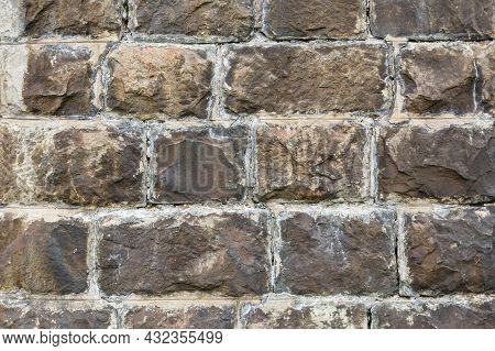 Stone Wall Background. Stone Masonry. Texture Of A Stone Wall.