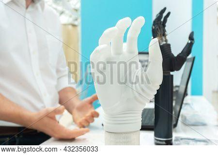 Bionic Arm. Modern Technology For Prosthetic Limbs.