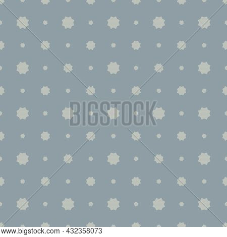 Seamless Abstract Geometric Background. Pattern With Small And Large Octagram In Pastel Colors. Text
