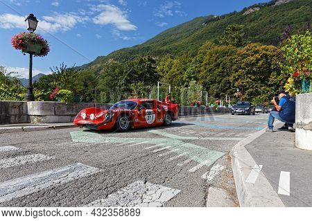 Vif, France, September 2, 2021 : Tour Auto Optic 2000 Third Stage Approaches The Roads Of The Vercor