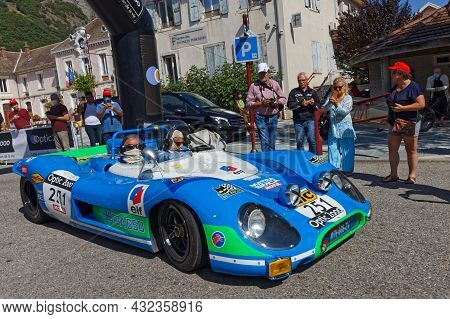 Vif, France, September 2, 2021 : Famous Matra 650 At Tour Auto Optic 2000 Third Stage Point Of Contr