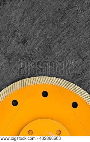 Diamond Cut-off Wheel With Thin Cutting Segments For Cutting Stone And Granite, Yellow Circle Body A