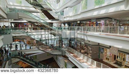 Kowloon Tong, Hong Kong 30 May 2021: Shopping mall in Hong Kong