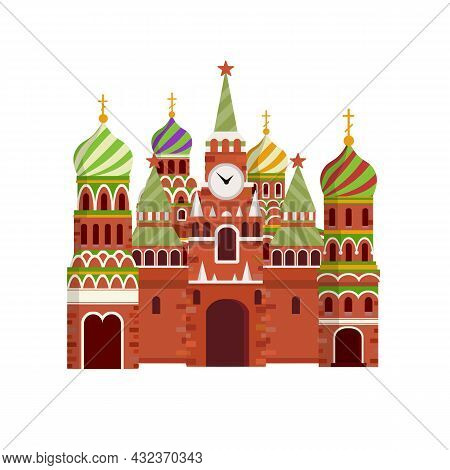 Orthodox Church. Eastern Religious Temple With Bell Tower