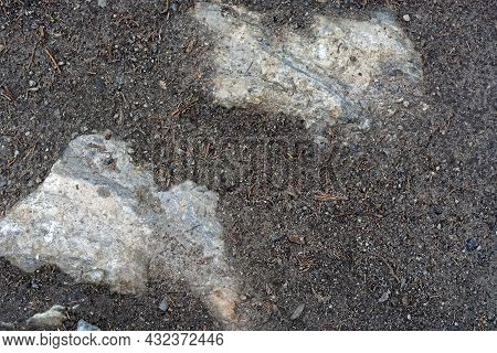 Rough Rough Surface Of Marble Stone, Breaking Through Marble Chips. For Use As Abstract Backgrounds