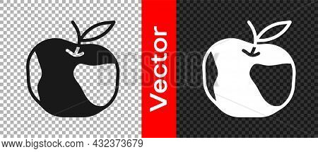 Black Apple Icon Isolated On Transparent Background. Excess Weight. Healthy Diet Menu. Fitness Diet