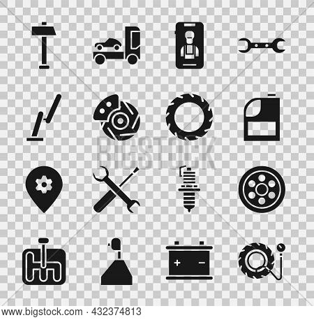Set Tire Pressure Gauge, Alloy Wheel, Canister For Motor Machine Oil, Online Car Services, Car Brake
