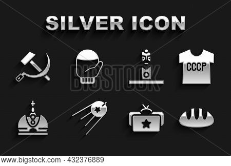 Set Satellite, Ussr T-shirt, Bread Loaf, Ushanka, King Crown, Slavic Pagan Idol, Hammer And Sickle A