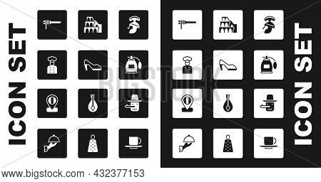 Set Roman Army Helmet, Woman Shoe, Italian Cook, Pasta Spaghetti, Perfume, Coliseum In Rome, Pinocch