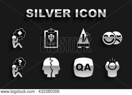 Set Bipolar Disorder, Comedy And Tragedy Masks, Anger, Question Answer, Head With Question Mark, Met